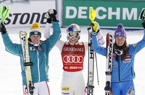 Горные лыжи. Вонн выиграла в Санкт-Морице