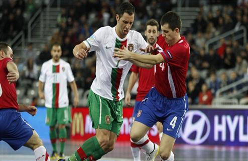 Футзал. Евро 2012. Португалия побеждает Сербию