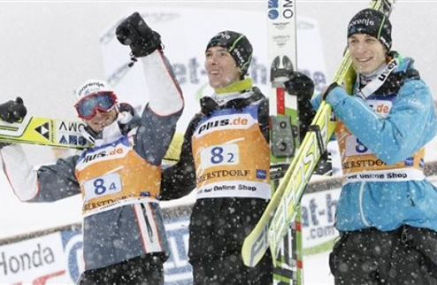 Прыжки с трамплина. Первая победа сборной Словении