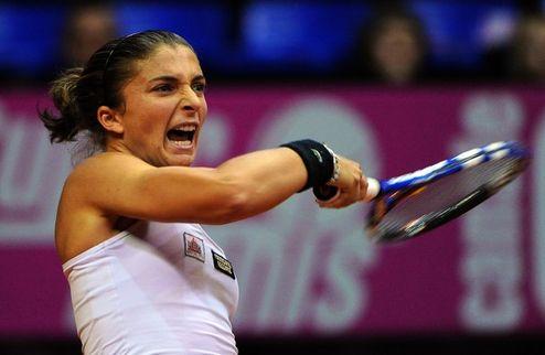 Монтеррей (WTA). Эррани налегке вышла в четвертьфинал, Винчи покинула турнир