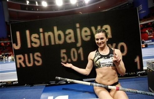Легкая атлетика. Исинбаева установила новый мировой рекорд