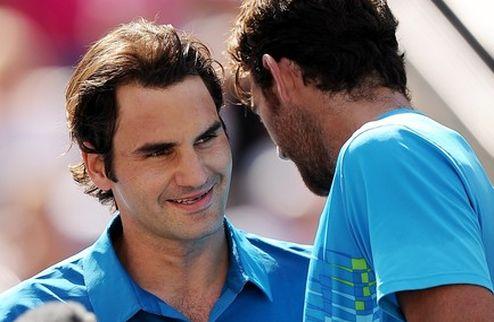 """Федерер: """"Провел хороший матч против отличного игрока"""""""