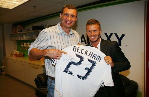 Бекхэм подарил футболку Кличко
