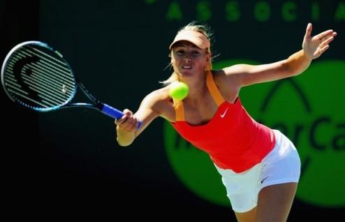 Майами (WTA). Шарапова и Возняцки вышли в полуфинал