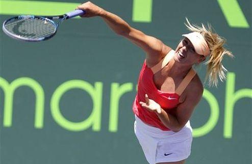 Майами (WTA). Шарапова останавливает упрямую Возняцки