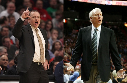 Тибодо и Попович — тренеры месяца в НБА