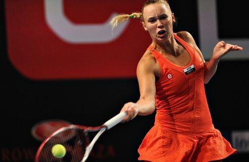 Копенгаген (WTA). Возняцки и Янкович налегке вышли в четвертьфинал