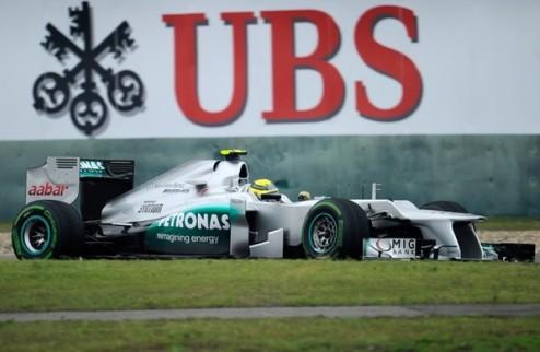 Формула-1. Гран-при Китая. Поул Росберга, крах Феттеля