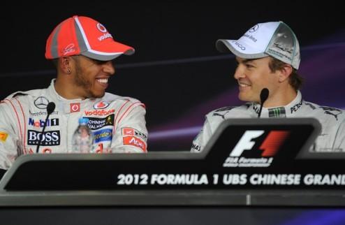 Формула-1. Хэмилтон рад за Росберга