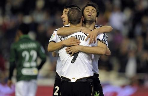 Валенсия отрывается от Малаги, Атлетико подпирает Атлетик + ВИДЕО