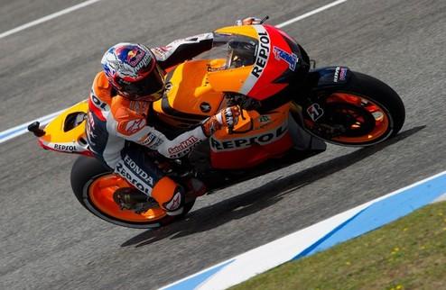 """MotoGP. Гран-при Испании. Победа Стоунера, """"испанский подиум"""""""