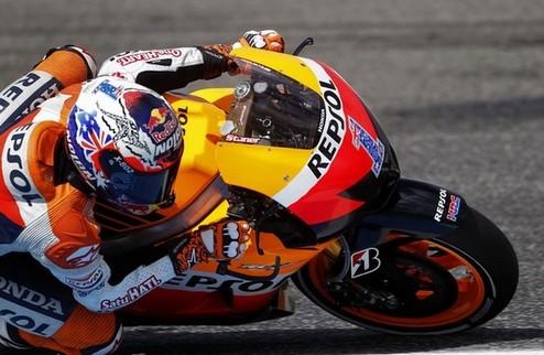 MotoGP. Гран-при Португалии. Стоунер выигрывает разминку