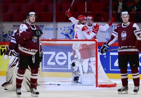 ЧМ. Дания побеждает Латвию