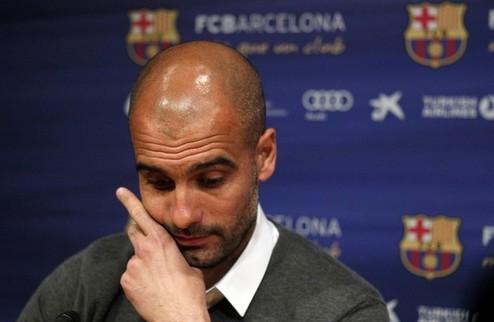 """Гвардиола: """"Покидаю Барселону счастливым"""""""