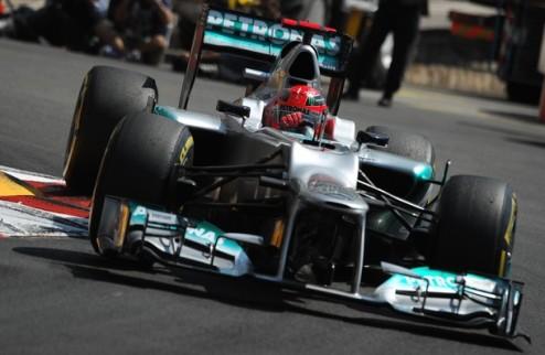 Формула-1. Гран-при Монако. Шумахер выигрывает квалификацию и отправляется на третий ряд