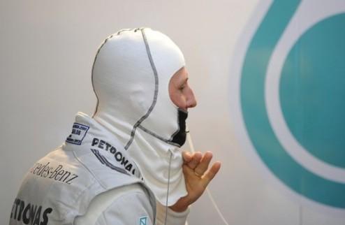 Формула-1. Шумахер доволен несостоявшимся поулом