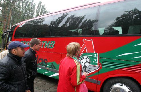 В Москве обстреляли автобус Локомотива
