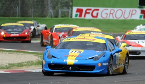 Четвертый этап Ferrari Challenge — украинец попал в пятерку