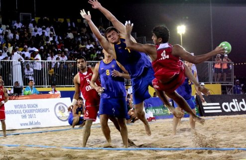 Пляжный гандбол. Украина — в полуфинале чемпионата мира