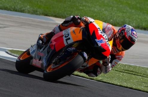 MotoGP. Гран-при Индианаполиса. Стоунер — быстрейший в последней тренировке