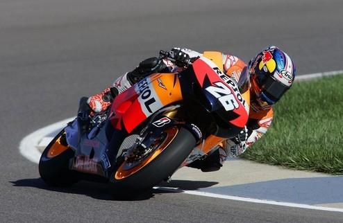 MotoGP. Гран-при Индианаполиса. Педроса на вершине, Стоунер в шаге от подиума