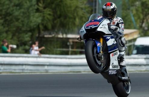 MotoGP. Гран-при Чехии. Лоренсо на поуле, Росси шестой