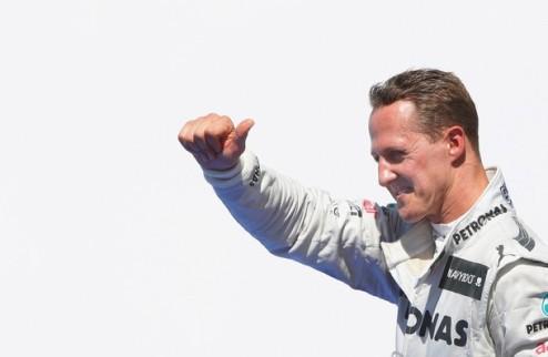 Формула-1. Шумахер готовится к своей гонке № 300