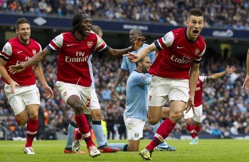 Арсенал вырвал ничью против Ман Сити, Тоттенхэм сильнее КПР + ВИДЕО
