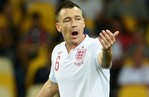 Терри завершил карьеру в сборной Англии
