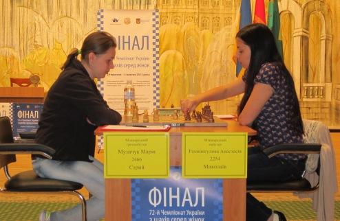 Шахматы. Результаты третьего тура женского чемпионата Украины