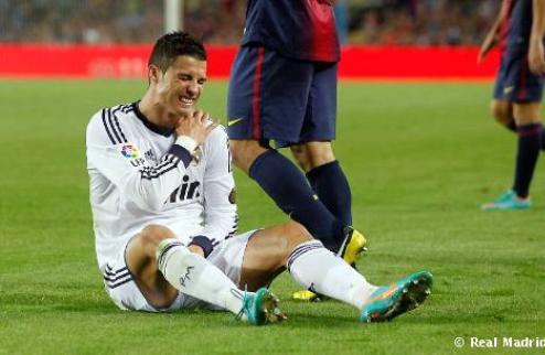 Роналду травмировался в Эль Класико