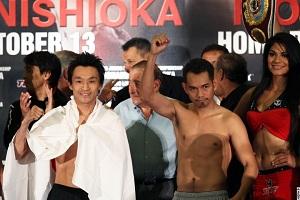 Участники боксерского шоу в Карсоне взвесились