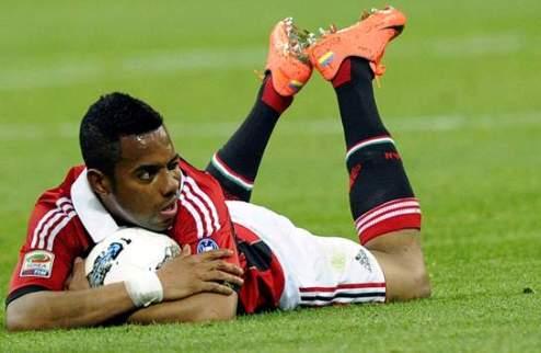 Милан: Робиньо пропустит матч с Лацио