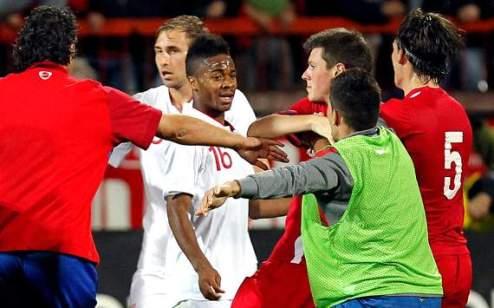 Сербская полиция завела дело на английских футболистов