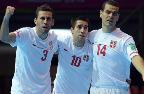 Футзал. Сербия разбила Кувейт и вышла в 1/8 финала