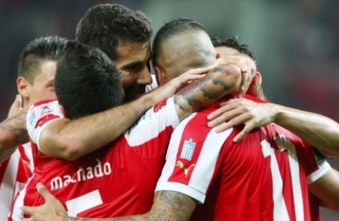 Группа В. Олимпиакос бьет Монпелье, мир Шальке и Арсенала + ВИДЕО