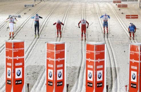 Лыжные гонки. Бьорген и Крюков первенствуют в спринте