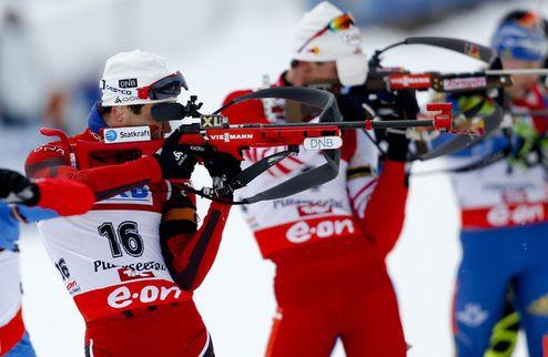 Биатлон. Норвегия уверенно выигрывает эстафету
