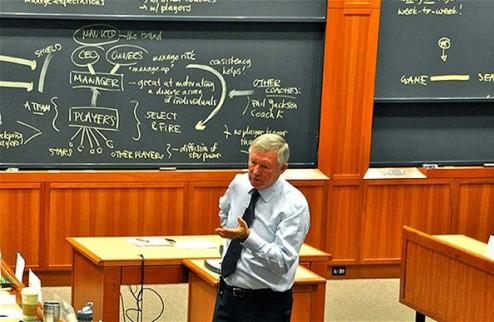 Фергюсон прочитал лекцию об успехе студентам Гарварда