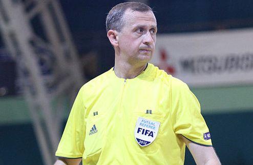 Футзал. Украинский арбитр получил назначение на матчи отбора ЧЕ-2014