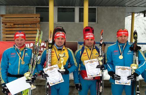 Биатлон. Биланенко, братья Прима и Семенов выиграли эстафету на ЧУ