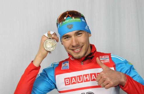 Биатлон. Юрлова и Шипулин выиграли Рождественскую гонку