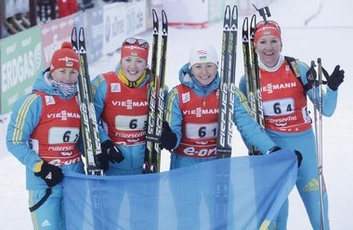 Биатлон. Украинские девушки побеждают в эстафете!