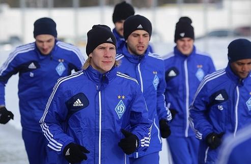 Динамо: первая тренировка в новом году