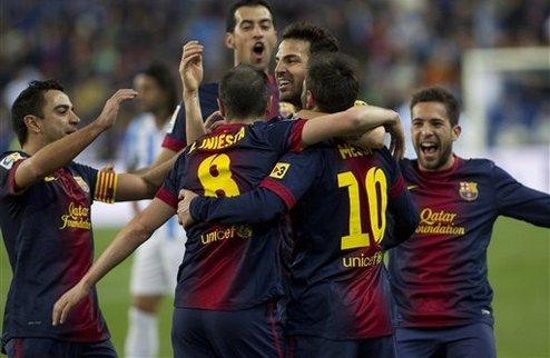 Барселона разбила Малагу