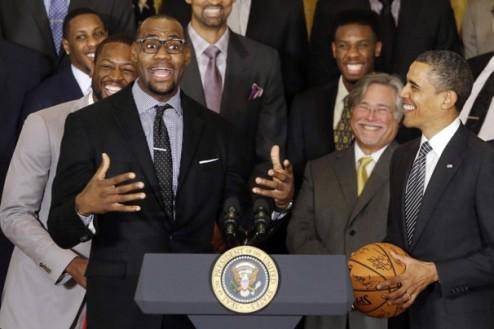 НБА. Игроки Майами встретились с Обамой