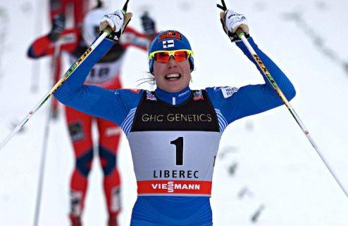 Лыжные гонки. Финляндия и Россия выигрывают командный спринт