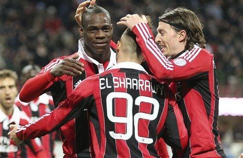 Балотелли выводит Милан в четверку