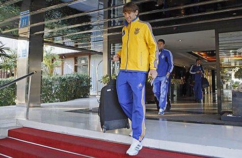Сборная Украины собирается в Испании