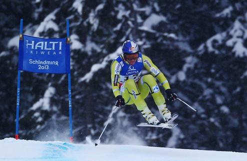 Горные лыжи. ЧМ. Свиндал покорил скоростной спуск